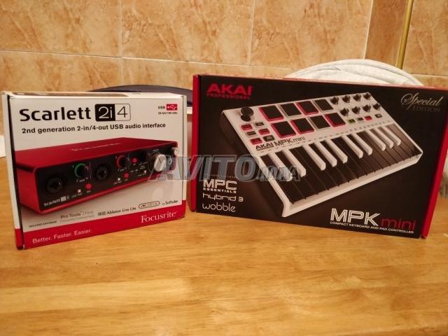 Scarlett 2i4 / Akai MPK mini édition limitée للبيع في الدار