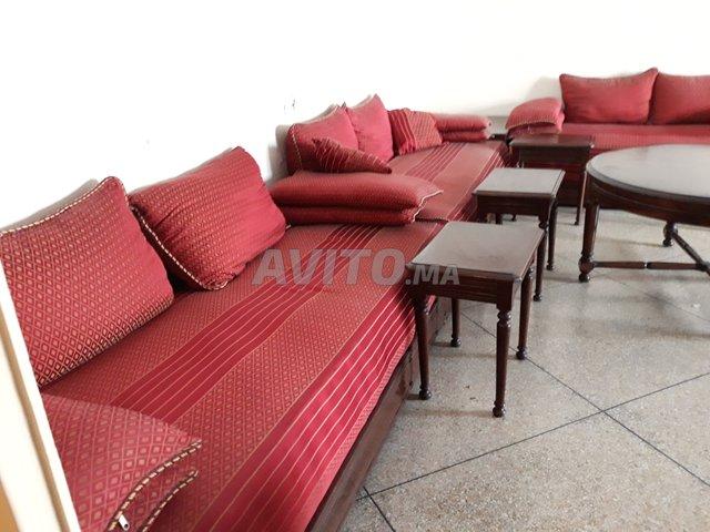 Salon Marocain Rouge Complet