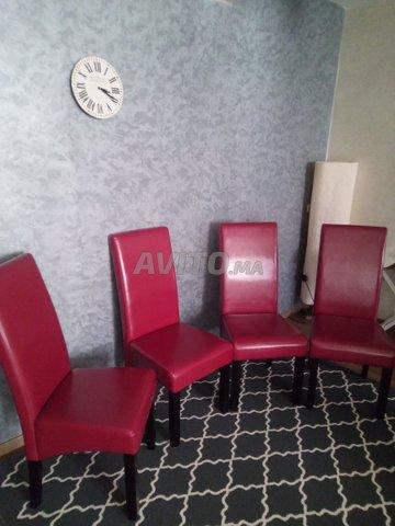Lot De Chaises Rouge Bordeaux à Vendre à Casablanca Dans Stocks Et