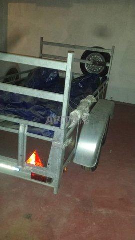 Remorque double essieux 750kg