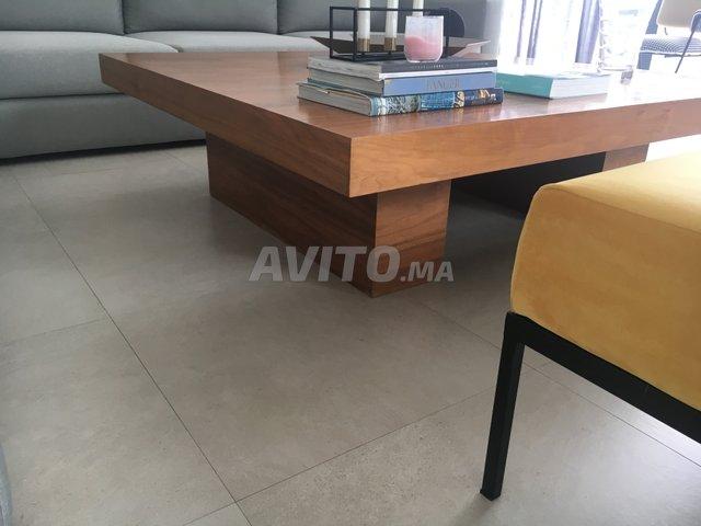 Table Basse De Salon Design En Bois Noyer