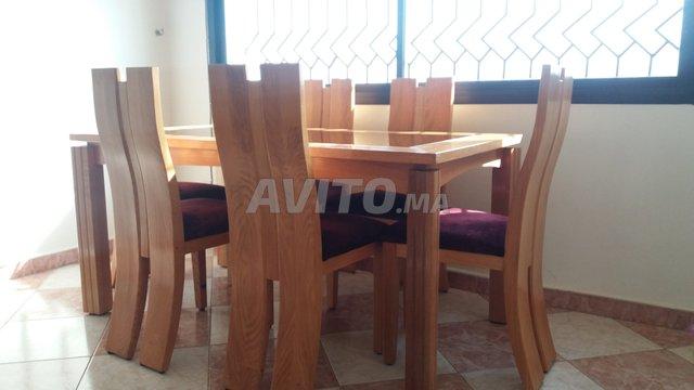Table Et Chaises Bois Massif A Vendre A Rabat Dans Meubles Et
