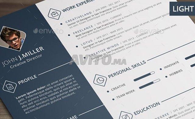 Creer Un CV Moderne Avec Photoshop Carte Visite