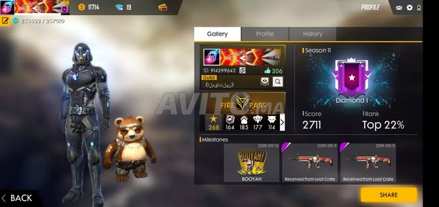 Compte Free Fire Heroic