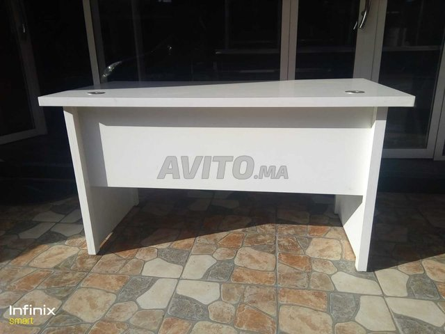 Bureau blanc en bois avec casablanca à vendre à casablanca dans