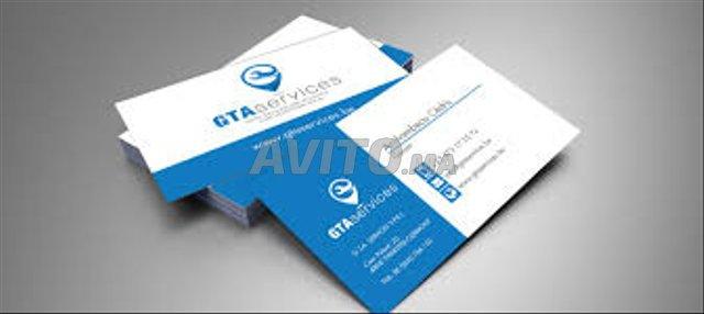 Impression 1000 Carte Visite Recto Verso MAT 300gr