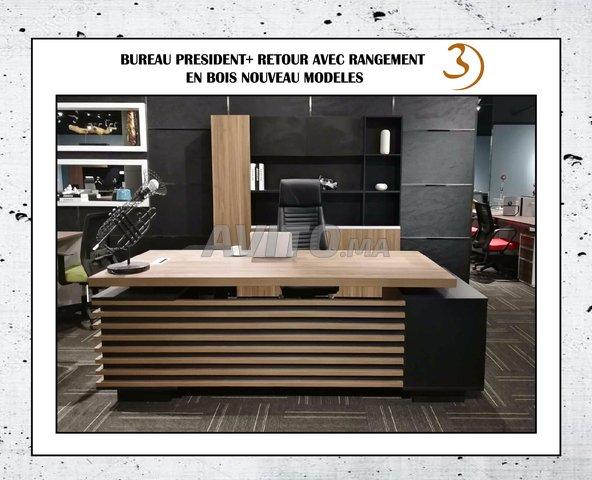 Nouvelle arrivage bureau président en bois qualité à vendre à agadir