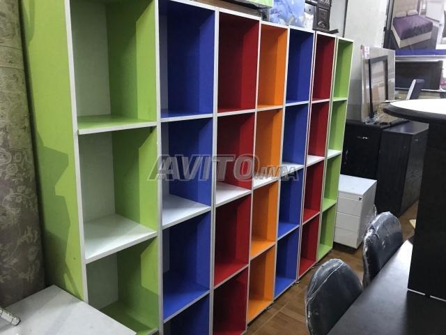Bibliothèque de rangement en couleur pour bureau à vendre à rabat